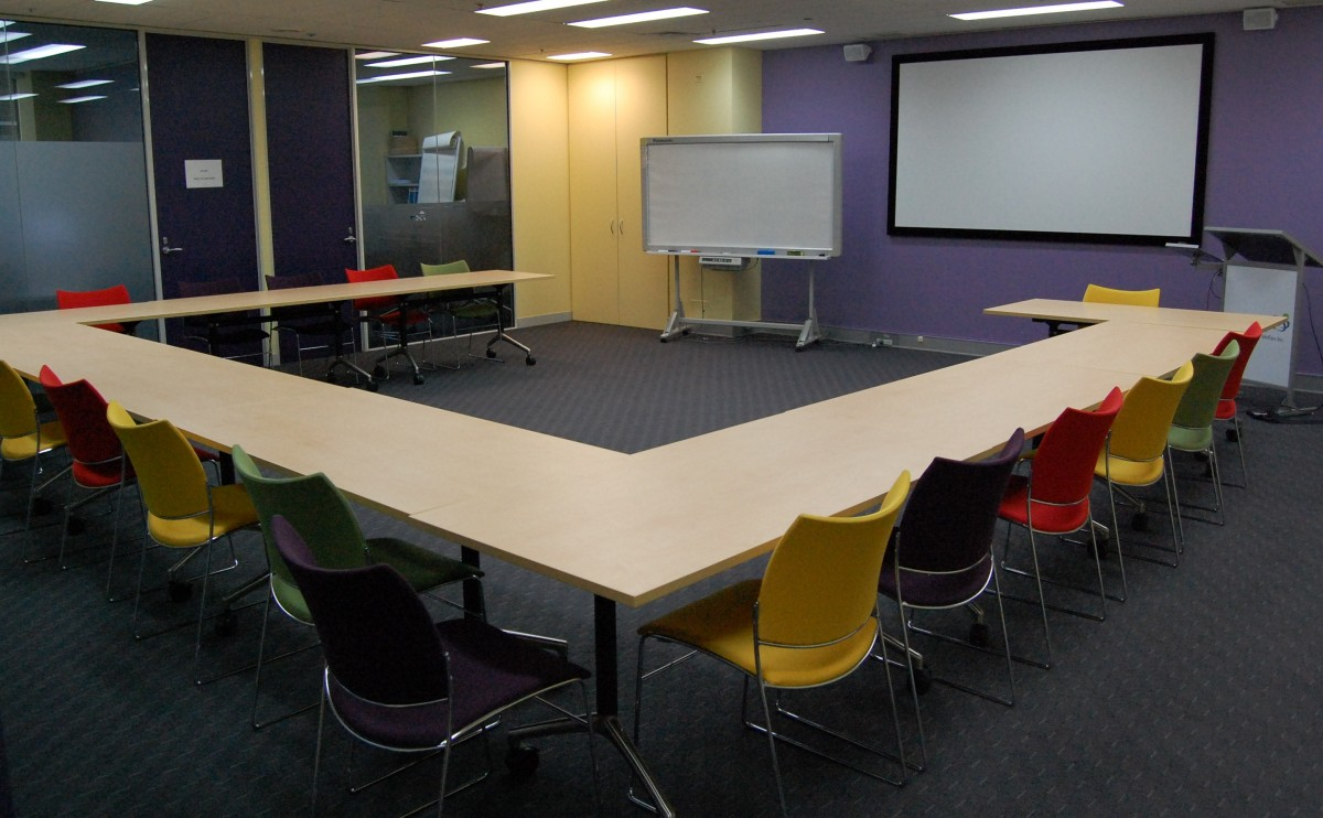 The Centre's training room seats up to 45 people.