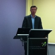 Paul Ronalds presenting at the Centre's local governance forum